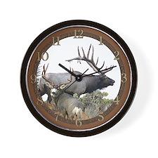 Elk and deer Wall Clock