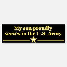 My son proudly serves Bumper Bumper Bumper Sticker