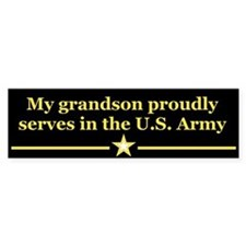 My grandson proudly serves Bumper Bumper Sticker