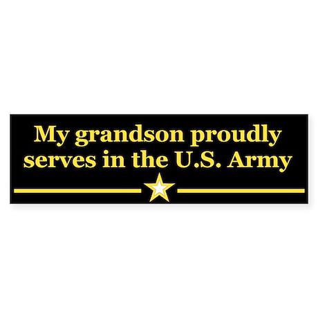 My grandson proudly serves Bumper Sticker