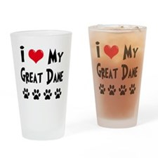 I Love My Great Dane Drinking Glass