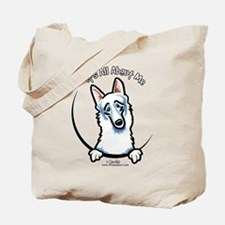 White German Shepherd IAAM Tote Bag