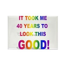 Took Me 40 years to look this Rectangle Magnet (10