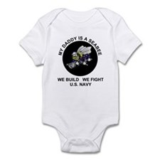 US Navy Seabee Daddy Infant Creeper