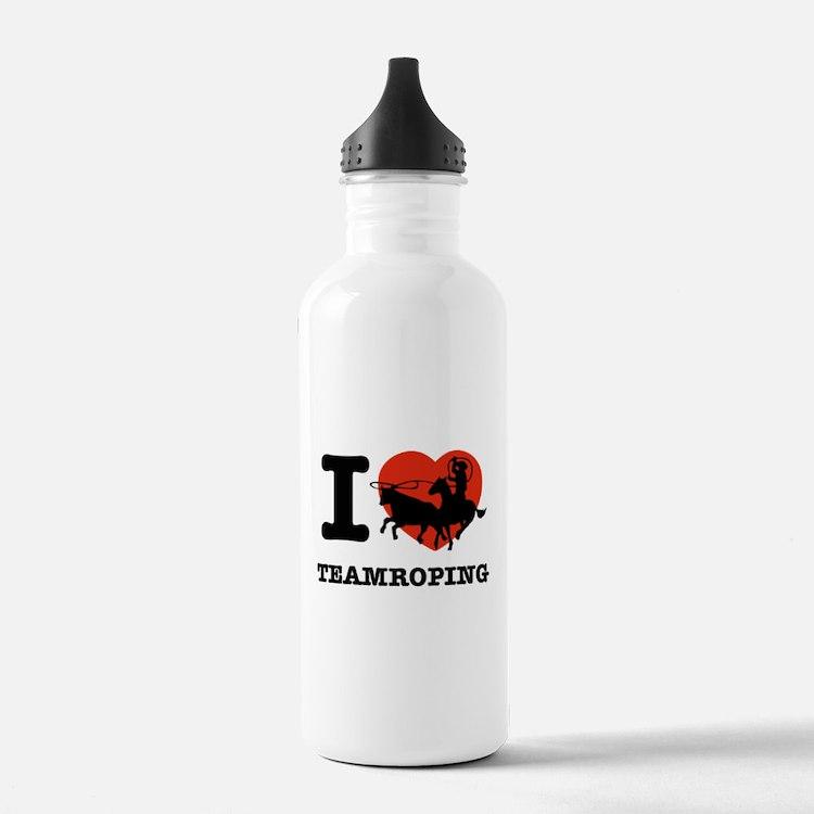 I love Team roping Water Bottle