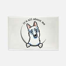 White German Shepherd IAAM Rectangle Magnet