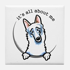 White German Shepherd IAAM Tile Coaster