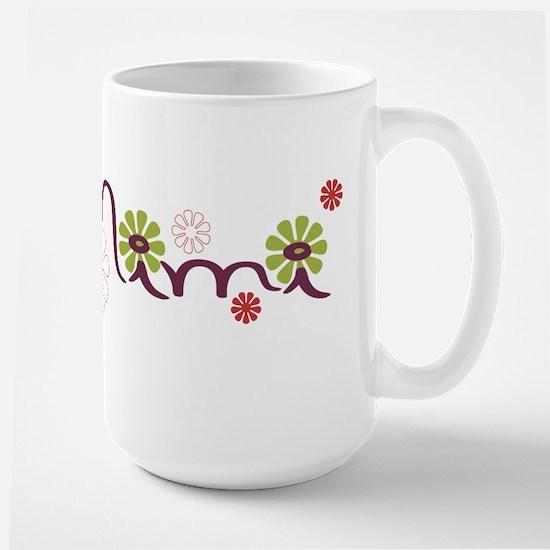 Mimi With Flowers Large Mug