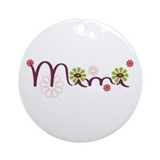 Mimi With Flowers Ornament (Round)