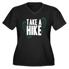 Take a Hike Women's Plus Size V-Neck Dark T-Shirt