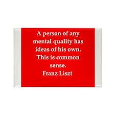 Franz liszt quotes Rectangle Magnet