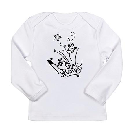 Happy Eid flower Long Sleeve Infant T-Shirt