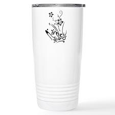 Happy Eid flower Travel Coffee Mug