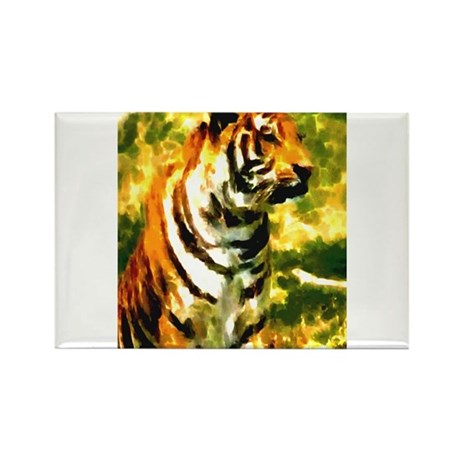 Tyger Stand Rectangle Magnet
