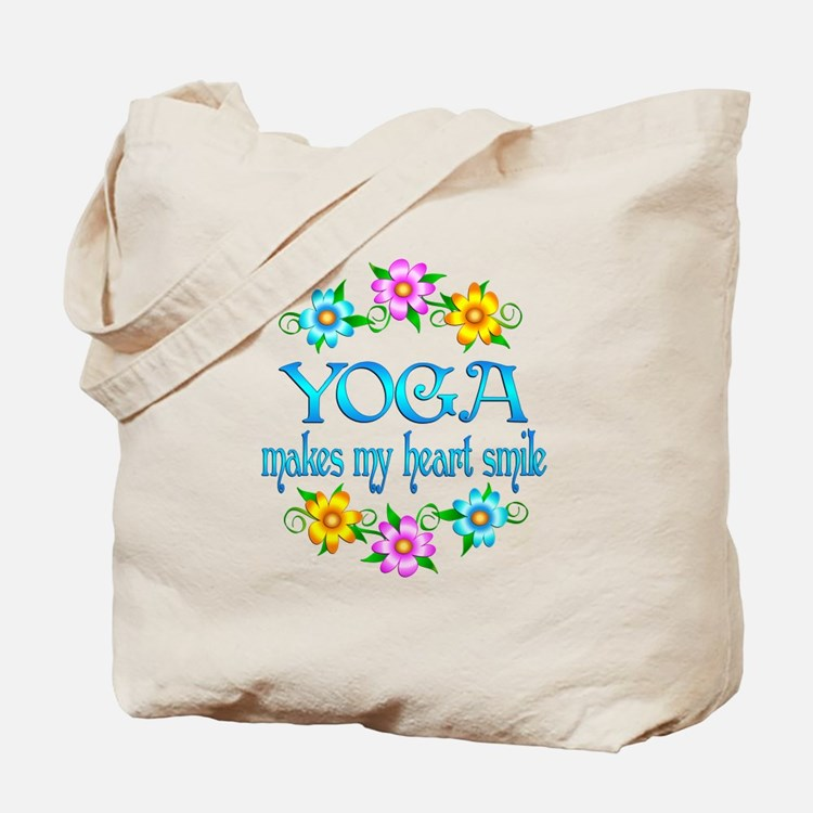 Yoga Smiles Tote Bag
