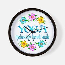 Yoga Smiles Wall Clock