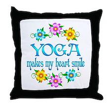Yoga Smiles Throw Pillow