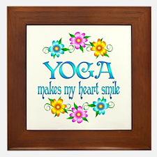 Yoga Smiles Framed Tile