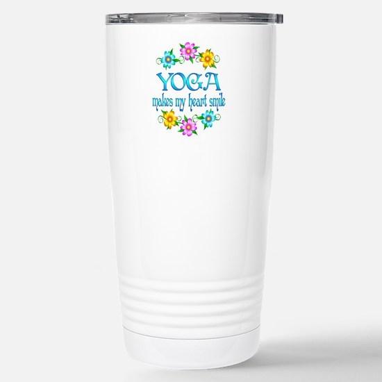 Yoga Smiles Stainless Steel Travel Mug