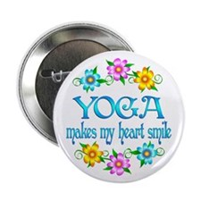 """Yoga Smiles 2.25"""" Button (10 pack)"""