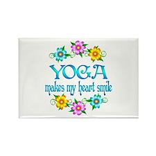 Yoga Smiles Rectangle Magnet