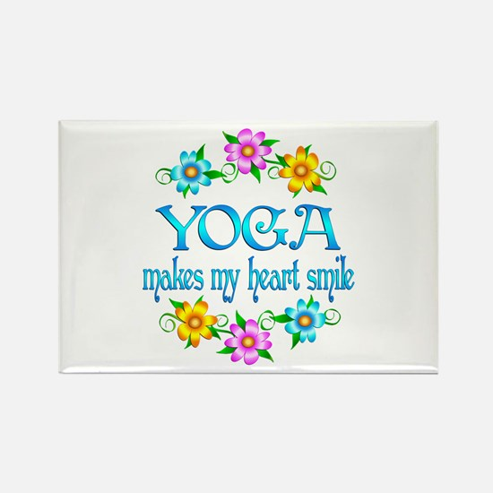 Yoga Smiles Rectangle Magnet