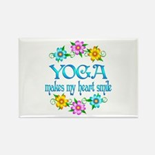 Yoga Smiles Rectangle Magnet (100 pack)