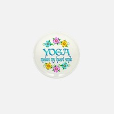 Yoga Smiles Mini Button (100 pack)