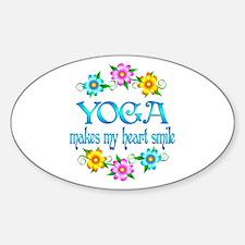 Yoga Smiles Bumper Stickers