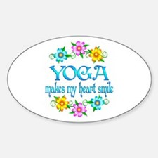 Yoga Smiles Sticker (Oval)