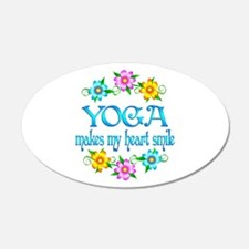 Yoga Smiles 22x14 Oval Wall Peel