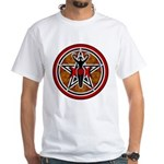 Red and Gold Goddess Pentacle White T-Shirt