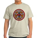 Red and Gold Goddess Pentacle Light T-Shirt