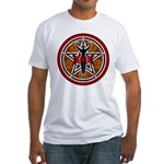 Red and Gold Goddess Pentacle Fitted T-Shirt