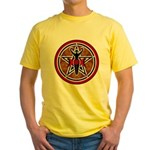 Red and Gold Goddess Pentacle Yellow T-Shirt