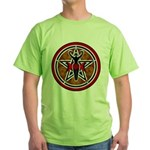 Red and Gold Goddess Pentacle Green T-Shirt
