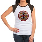 Red and Gold Goddess Pentacle Women's Cap Sleeve T