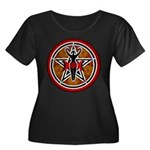 Red and Gold Goddess Pentacle Women's Plus Size Sc