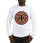 Red and Gold Goddess Pentacle Long Sleeve T-Shirt