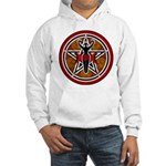 Red and Gold Goddess Pentacle Hooded Sweatshirt