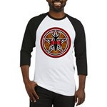 Red and Gold Goddess Pentacle Baseball Jersey