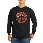 Red and Gold Goddess Pentacle Long Sleeve Dark T-S