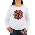 Red and Gold Goddess Pentacle Women's Long Sleeve