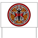 Red and Gold Goddess Pentacle Yard Sign