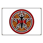 Red and Gold Goddess Pentacle Banner