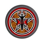 Red and Gold Goddess Pentacle Wall Clock