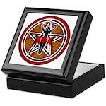 Red and Gold Goddess Pentacle Keepsake Box