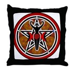 Red and Gold Goddess Pentacle Throw Pillow