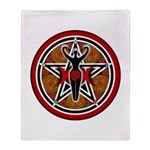 Red and Gold Goddess Pentacle Throw Blanket