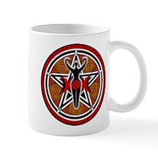 Red and Gold Goddess Pentacle Mug